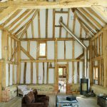 living room in barn conversion stock photos living room in barn