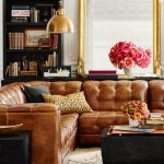 living room inspiration tan leather sofa
