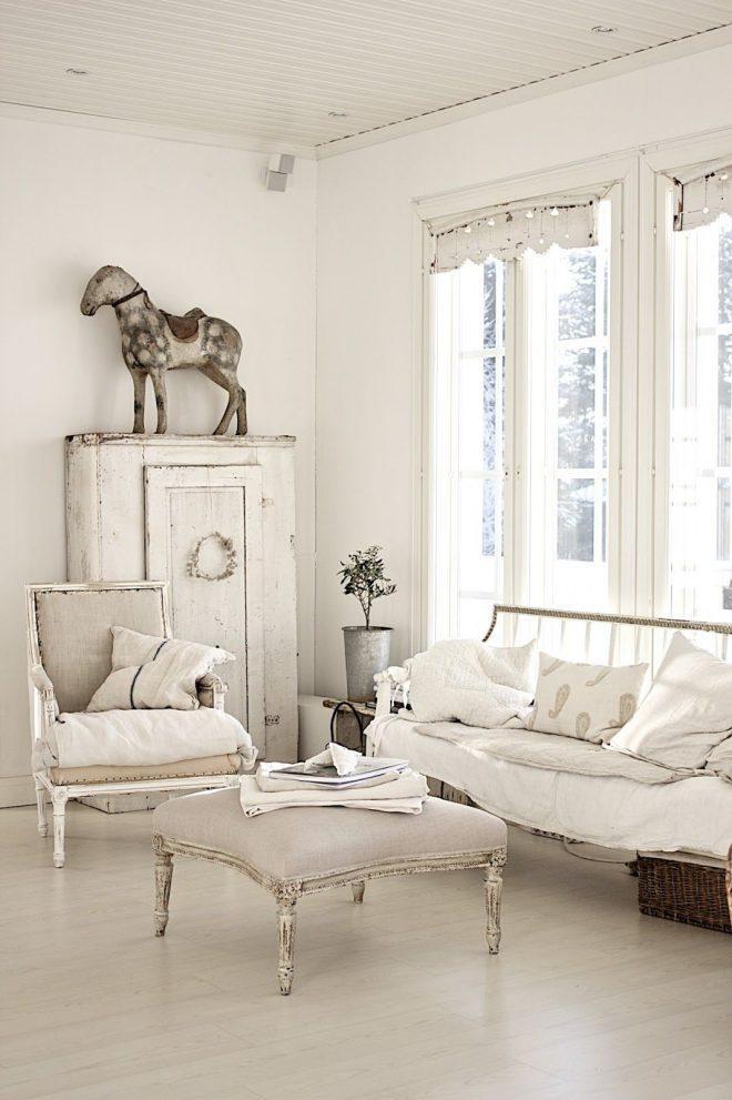 living room whitewashed chippy shab chic french country rustic