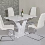 lizzy small 120cm white high gloss dining table