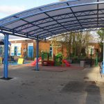 lliswerry primary school outdoor learningplayarea shelter
