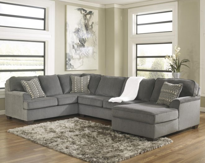 loric smoke contemporary 3 piece sectional with chaise