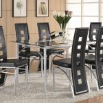 los feliz contemporary metal table and black upholstered chairs coaster at dunk bright furniture