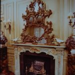 louis xv period painted mantel in original green paint and gold leaf mid 18th c