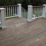 love the idea of painting top railing slightly darker color