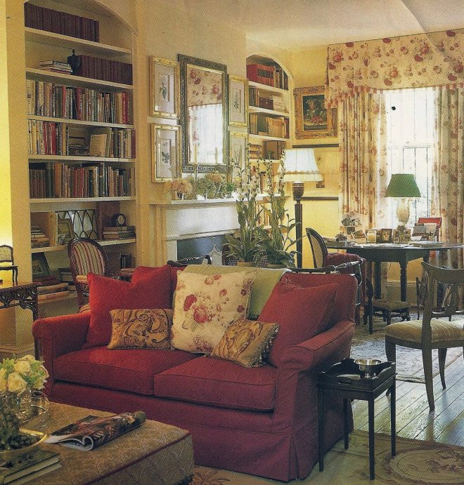 love this room bookcase fireplace dining tablegame
