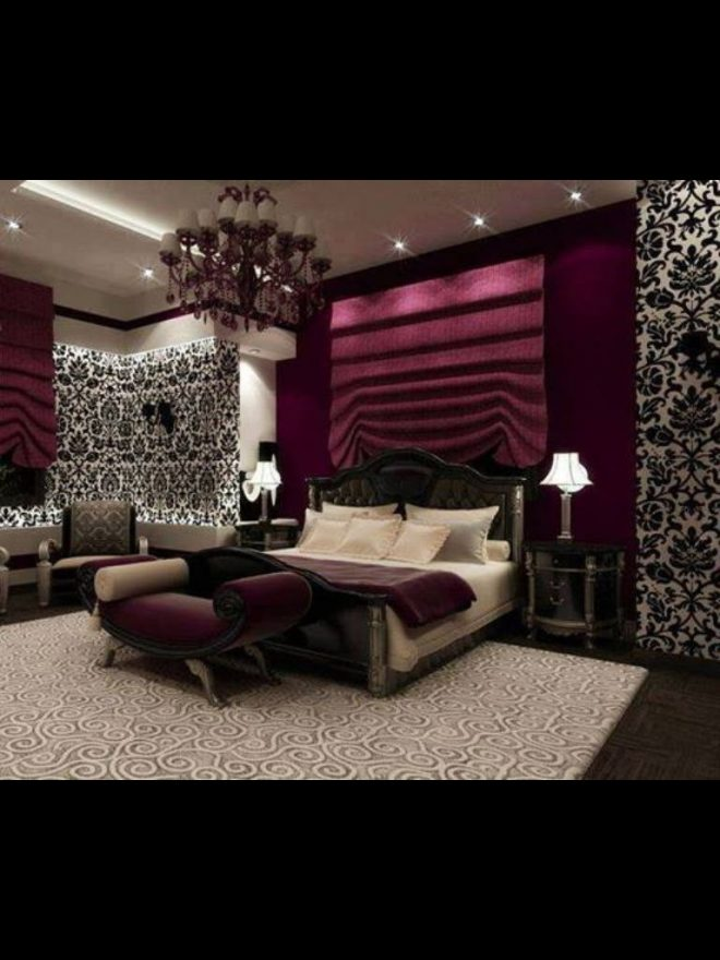 love this such a romantic bedroom with black and white