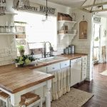 loving all of the textures in this farmhouse kitchen 3