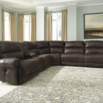 luttrell 6 piece reclining sectional with console