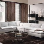 luxury and modern living room design with modern sofa