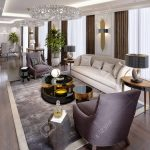 luxury apartments in the hotel with a living room and dining