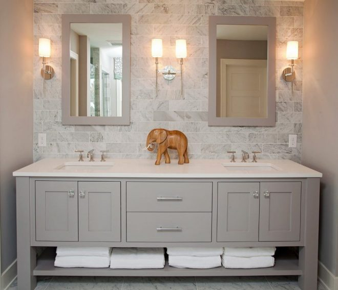 luxury bathroom vanities bathroom beach style with gray backsplash