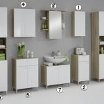 luxury bilbao matching white washed oak bathroom vanity unit