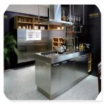 luxury custom stainless steel kitchen cabinet global sites