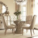 luxury dining room furniture design recommending clear round