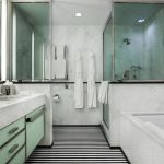 luxury four bedroom hotel suite in nyc white bathroom