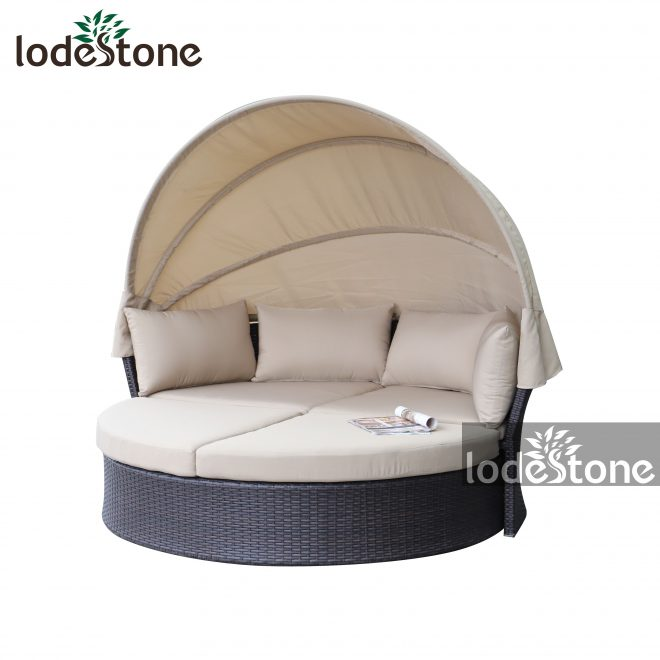 luxury garden beach round rattan daybed patio furniture outdoor bed with canopy buy sun bed beachrattan daybed patio furnitureoutdoor bed with