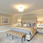 luxury master bedroom interior furnished with two nightstands