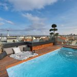 luxury penthouses pool pergola and barbeque