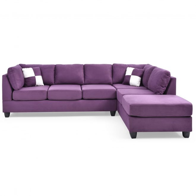 lyke home braxton purple sectional