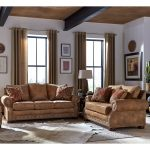 made in usa rancho rustic brown buckskin fabric sofa and