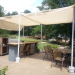 made this canopy to cover the barseating area this weekend
