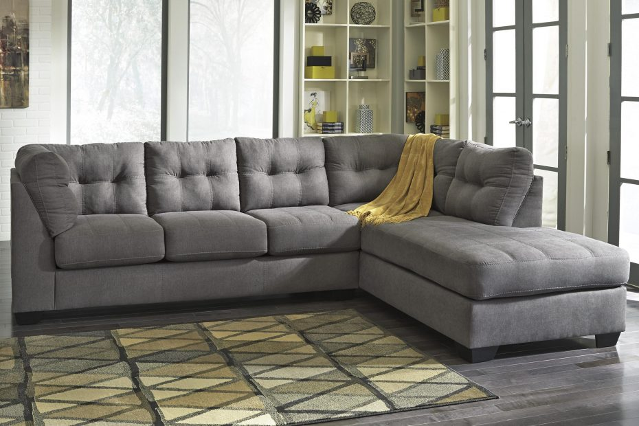 maier charcoal 2 piece sectional w sleeper sofa chaise