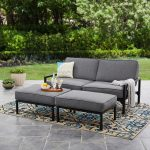 mainstays moss falls 3pc outdoor sofa daybed set grey