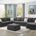 makah 6 seater large right hand facing sectional sofa with ottoman