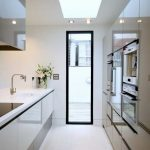 make a galley kitchen seem bigger galley kitchen design