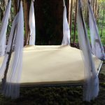 make a hanging bed out of a trampoline tinyhouseontheprairie
