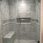 marble shower with bench in 2019 master bathroom shower