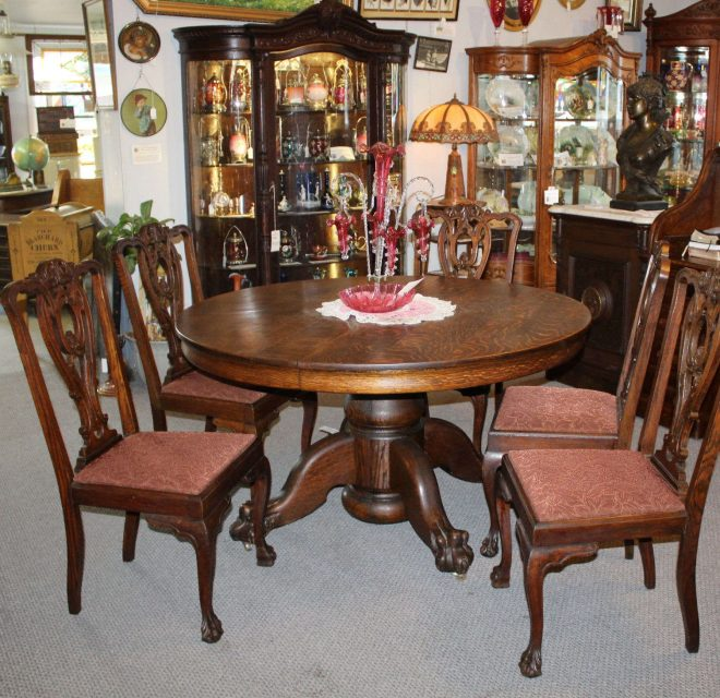 marvelous antique dining room table and chairs light grey