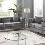 marvine modern tufted designer 2 piece living room set