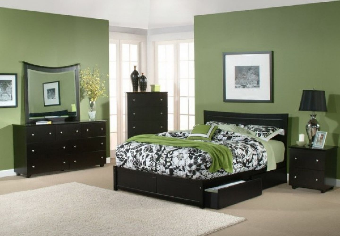 master bedroom paint colors with dark furniture green