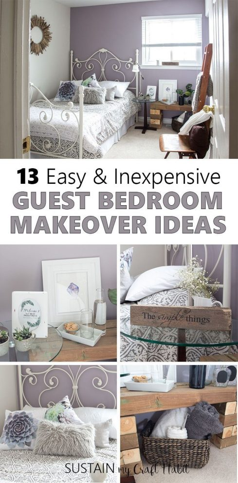 mauve lous guest bedroom ideas a simple spare room refresh for
