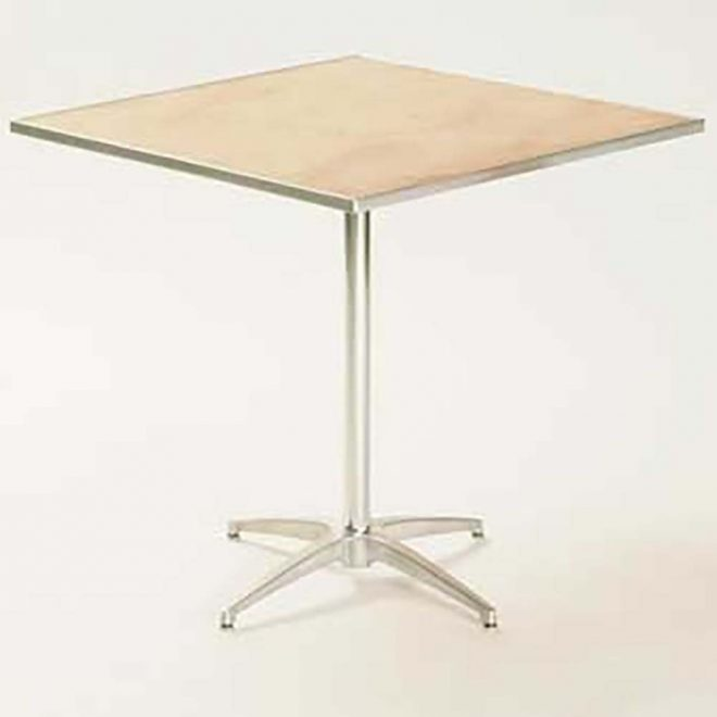 maywood mp30sqped30 pedestal table 30 square x 30 inch plywood top