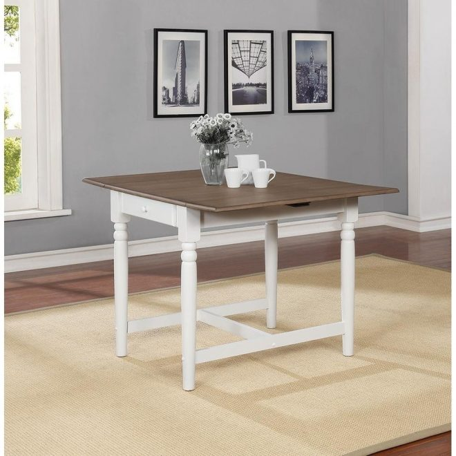 melinda pale ale and white square dining table