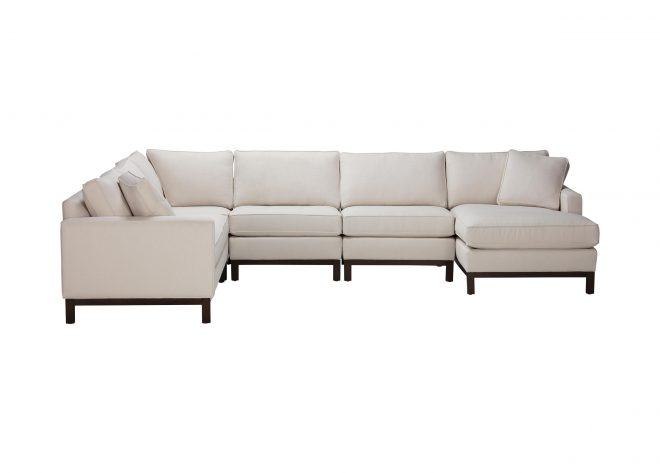melrose too five piece sectional with chaise ethan allen
