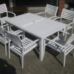 metal white patio furniture sets with 6 chairs metal patio