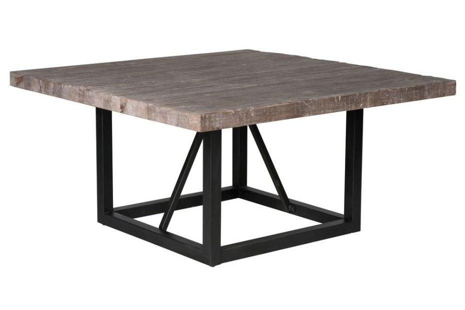 mia reclaimed wood 60 inch square dining table kosas home