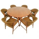 mid century modern teak dining set with westnofa chairs for sale at