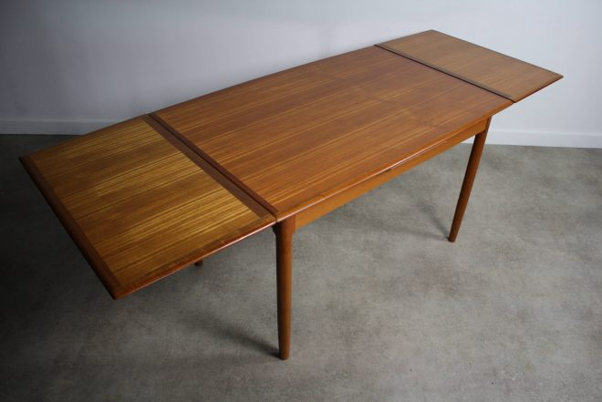 mid century teak extension dining table attributed to svend madsen