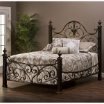 mikelson mixed wood iron bed hillsdale furniture