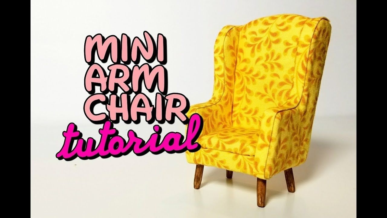 miniature upholstered arm chair with free template