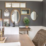mirror gallery wall from thrifted frames dining rooms pinterest