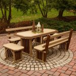 mission amish outdoor dining set