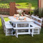 mission deluxe amish outdoor dining set