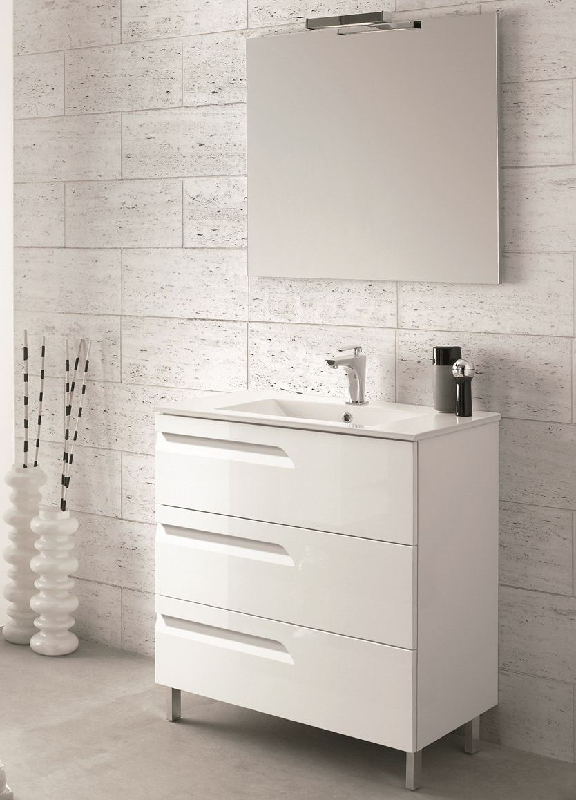 modern 24 bathroom vanity with white integrated porcelain sink 4
