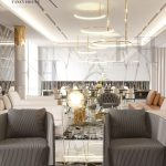 modern arabic interior design for a mansion in white color find